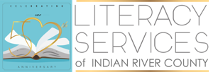 Literacy Services of Indian River County,  Vero Beach, Fellsmere, and Sebastian Florida. Committed to providing free quality literacy tutoring to local adults. Logo